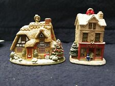 Lilliput Lane Christmas Cheer And Great Expectations Ornaments