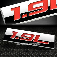 METAL EMBLEM CAR BUMPER TRUNK FENDER DECAL LOGO BADGE CHROME RED 1.9L 1.9 L