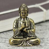 Statue lucky Pure Copper Brass Bronze Chinese Buddhism Sakyamuni Buddha 25g