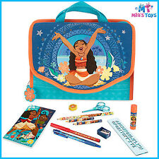 Disney Moana Zip-Up Stationery Kit with Carry Case Pencil case brand new