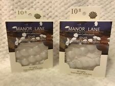 NEW Set of 2 Manor Lane Wire Shell Shimmer Flexible String Lights 10' Sea Beach