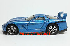 2007 Matchbox #17 Dodge Viper GTS-R GTS BLUE METALLIC/LACE WHEEL/MINT