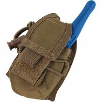 Condor Coyote Brown MOLLE Carabiner HHR Radio Holster Pouch L/R Antenna MA56