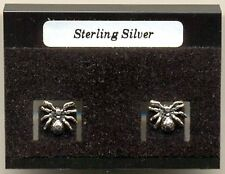 Spider Sterling Silver 925 Studs Earrings Carded
