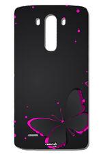 CUSTODIA COVER CASE FARFALLA NERA ROSA PER LG G3 D855 D850 4G LTE