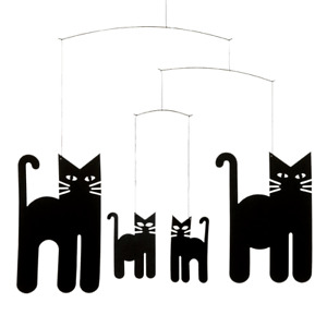 Cats Flensted Mobile Modern Danish Decor Hanging Mobile