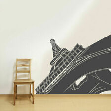 Wall Vinyl Sticker Decal Eiffel Tower Angle View Decal Paris France (Z3135)