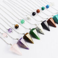 Divination Pendulum Pyramid Pendants Crystal Healing Reiki Therapy Necklaces