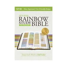 NIV Rainbow Study Bible, Jacketed Hardcover by Holman Bible Staff (editor)