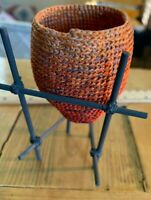 Vintage Miniature Basket made from Thread.