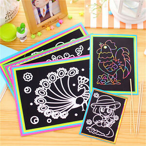 10X 9.5*13CM Small Size Kids Scraping Painting Educational Toys For Children SZY
