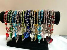 Wholesale Lots Bracelets Woman Glass Beaded Bracelets Birthstone 12 pcs Mix