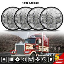 "4pcs 5 3/4"" 5.75"" Projector LED Headlights Sealed Beam fit for Peterbilt 359 348"