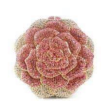 Lady Women Beauty Crystal Rose Newest Diamond Handbag Evening Bag Red Purse