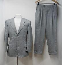 CANALI Men's Grey Wool Single Breasted Suit IT46R UK40 Trousers W30 L29