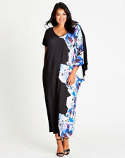 Autograph Black Floral Extended Sleeve Beach Holiday Dinner Party Dress 14
