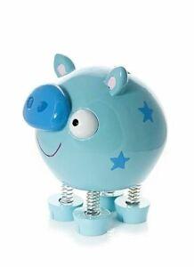 Mousehouse Adult Children's Blue Pig Piggy Bank Money Bank Gift Boys Girls