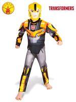 RUBIES Boys Fancy Dress Costume Licensed Transformers Bumblebee Deluxe 8082