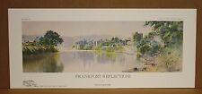 Frankfort Reflections Kentucky Artist Paul Sawyier CityScape River Scene