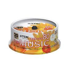 20 TDK JAPAN Blank Music CDR Discs 80min 24x CD-R CD-RDE80PPX20PN Pearl Color
