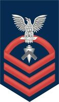 "Builder BU Navy Chief E-7 Red 5.5"" Rank Sticker / Decal"