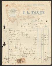 """LOURDES (65) Ets. PEINTURE & VITRERIE """"J.-L. FAURE"""" en 1930"""