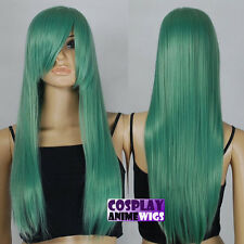 70cm Jade Green Heat Styleable Long Cosplay Wigs 76_6319