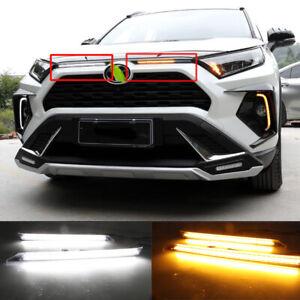 For Toyota RAV4 2019 2020 Automobile Cover Decoration Light Daytime Light Strip