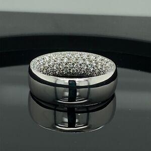 Platinum Diamond 4.00Ct Tw Mens Ring Inside Out Retail $14,285 Appraisal