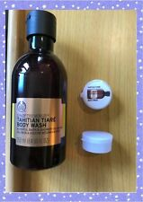 THE BODY SHOP , spa of the world .TAHITIAN TIARE body wash 10ML SAMPLE FREE POST