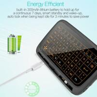 H18+ Wireless Mini Keyboard Air Mouse 2.4GHz Wireless Remote Full Touchpad Y6J0