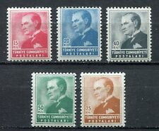 30857) TURKEY 1955 MNH** Ataturk 5v. Scott#1141/45