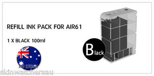 Black Replacement Ink Tank with ink for AIR60,61,62,63 Auto Ink Refill machine