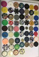 Vintage Lot Of 60 Casino Chips And Tokens - Vegas CA Paulson HHR Unicorn