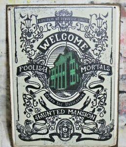 HAUNTED MANSION TAROT CARD Handmade Disney World vintage sign