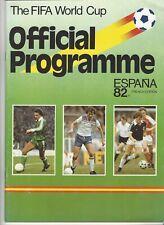 Programma WK Voetbal Spanje 1982
