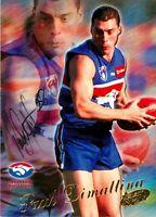 ✺Signed✺ 2000 WESTERN BULLDOGS AFL Card PAUL DIMATTINA