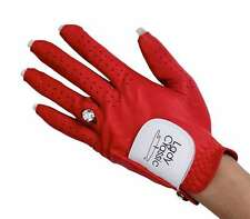 New Ladies Nail Ring Golf Glove Small Left Hand Red Cabretta Sheepskin Leather