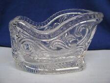 Crystal Sleigh Xmas Centerpiece Candy Bowl Nut Dish Flower Vase Potpourri Avon