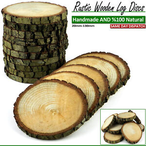 WOODEN LOG DISCS OAK BEECH ACACIA WOOD SLAB PRICE TAGS HOME DECOR 20 to 100 mm