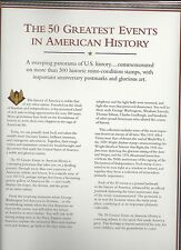The 50 Greatest Events In American History Mint-Stamp Panels RET.$990.00 (LR500)