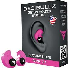 Custom Earplugs 31dB Hearing Protection Shooting Travel Sleeping Swimming Work