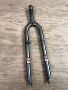 "Kona Project 2 Mountain Bike Fork 26"" 1-1/8"" Threaded 115mm 415mm Gray Rigid"