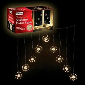 360 LED V Shape Starburst Curtain Christmas Lights