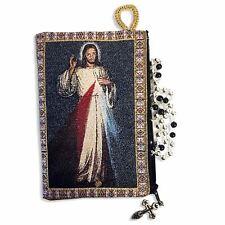 Sacchetto Regalo 17.3inc Rosso Bianco Perline Divina Misericordia rosario ROSARI da Medjugorje