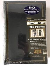 Pioneer Photo Albums BONDED LEATHER LOT OF 2 400 Pockets Total ACID FREE NEW