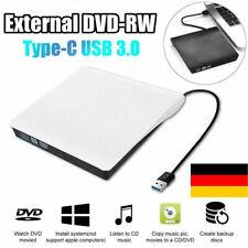 USB 3.0 Extern Slim Laufwerk CD-RW DVD Brenner mit Typ-C für Laptop PC Notebook