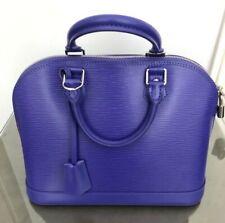 Louis Vuitton Alma Epi Leather Figue Purple Handbag