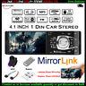 4.1'' Single 1 Din Coche MP5 Player Radio MP3 FM Estéreo In-Dash Audio Bluetooth