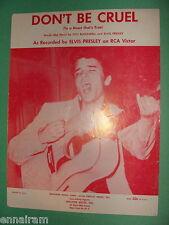 Elvis Presley Otis Blackwell Don't Be Cruel 1956 sheet music